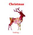 christmas reindeer progress loading bar vector image