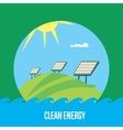 Clean energy banner Sun power generation