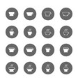 coffee and tea cup icons set vector image vector image