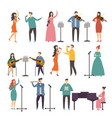 concert and music groups vocal duets musician vector image vector image