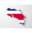 Costa Rica map with shadow effect vector image vector image