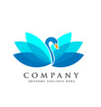 creative and elegant swan logo bird logo vector image