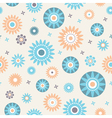 Decoratiive stars and flowers seamless pattern vector image vector image