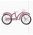 Doodle bicycle excellent EPS vector image vector image