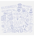 Doodle business icons vector image vector image