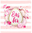 easter card with pink daisy flowers vector image vector image