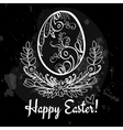 easter egg on the chalkboard vector image