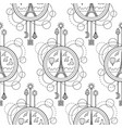 eiffel tower seamless pattern vector image vector image