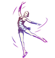 Figure Skating Woman vector image