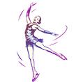 Figure Skating Woman vector image vector image