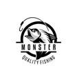 fishing logo design template sport vector image vector image