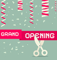 Flat Design Grand Opening with Confetti and vector image vector image