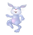 funny bunny on a white background vector image vector image