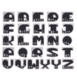 Geometric Font vector image vector image