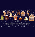gingerbread cookies background with an editable vector image