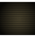 Gold honeycomb background vector image vector image