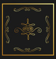 golden calligraphic flourishes decorative ornament vector image vector image