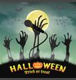 halloween karaoke microphone skeleton zombie hand vector image vector image