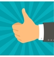 Hand with thumb in flat design style vector image vector image