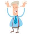 happy businessman cartoon character vector image vector image