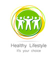 healthy lifestyle vector image vector image