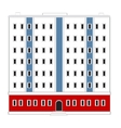 High-rise house vector image vector image