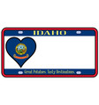 idaho state license plate vector image vector image