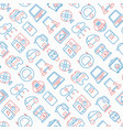 internet of things seamless pattern vector image vector image