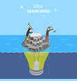 isometric flat concept of idea search vector image
