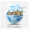 Italy Landmark Global Travel And Journey vector image vector image