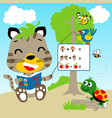 learn to count in forest with funny animals vector image vector image