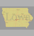 lowa accurate exact detailed state map vector image vector image