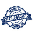 made in sierra leone round seal vector image vector image