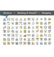 modern thin line and flat icons set vector image