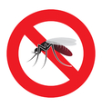 mosquito warning sign vector image