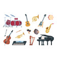 musical instruments acoustic electric and vector image