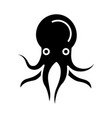 octopus icon black sign on vector image vector image