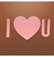Realistic pink paper I Love You Word vector image vector image