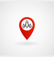 red location icon for forest eps file vector image vector image