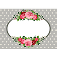 Retro oval roses vintage vector | Price: 1 Credit (USD $1)