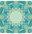 Round floral ornamental frame vector image vector image