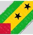 Sao Tome and Principe grunge flag vector image vector image