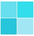 Seamless blue wave patterns vector image vector image