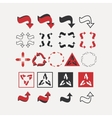 Set arrow decorative1 vector image
