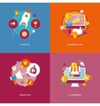Set of flat design concept icons for business and vector image