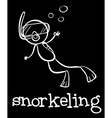 Snorkeling vector image vector image
