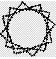 star shaped valentine love frame on transparent vector image vector image