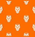 sugar skull flowers on the skull pattern seamless vector image vector image