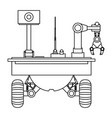 table top robotic arms vector image vector image