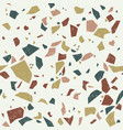 terrazzo color texture seamless pattern vector image vector image